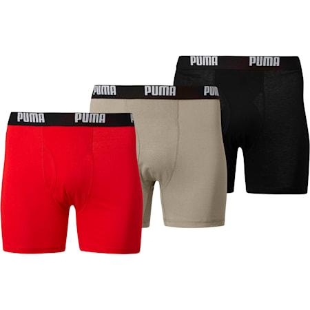 Men's Cotton Boxer Briefs [3 Pack], LIGHT GREY, small